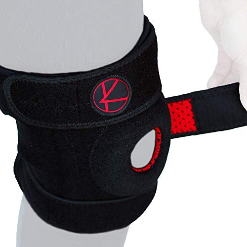 Adjustable Knee Brace Support - Plus Size Knee Brace for ACL, MCL, LCL, Sports, Meniscus Tear. Open Patella Knee Brace for Arthritis Pain and Support for Women, Men, Youth (XL / 2XL / 3XL Black)