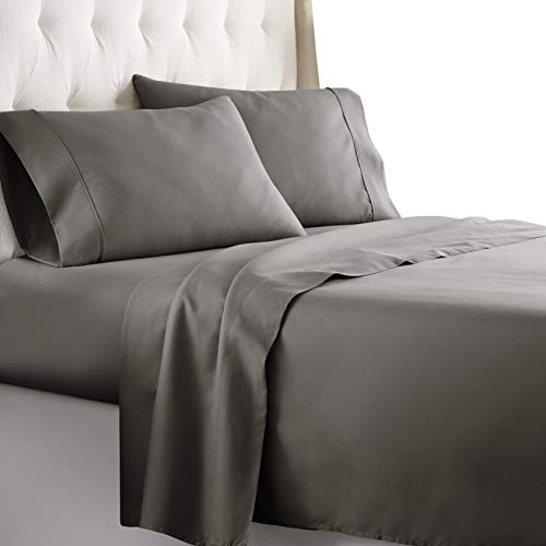 Hotel Luxury Bed Sheets Set 1800 Series Platinum Collection Softest Bedding, Deep Pocket,Wrinkle & Fade Resistant (Queen,Gray)