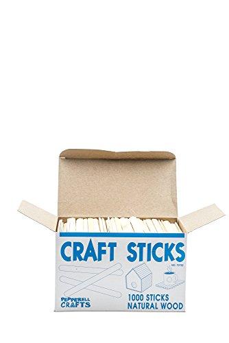 PEPPERELL BRAIDING Natural Wood Craft Sticks (Pack of 1,000)