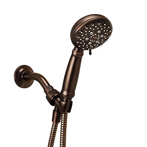 Moen 23046BRB Banbury 5-Spray Hand Shower with Hose and Bracket, 4-Inch Diameter, Mediterranean Bronze