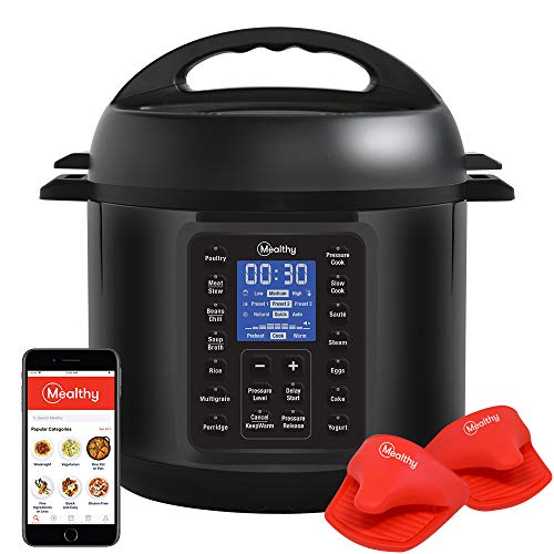 Mealthy MultiPot 9-in-1 Programmable Pressure Cooker with Stainless Steel Pot, Steamer Basket, Full Accessory Kit & Recipe App. Pressure Cook, Slow Cook, Sauté, Egg, HotPot, Rice Cooker, Yogurt, Steam (6 Quart 2.0)