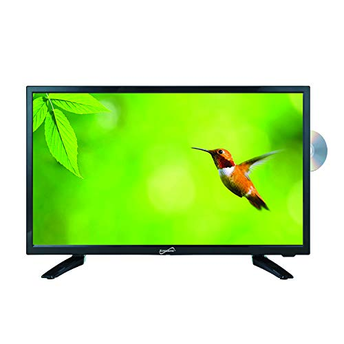 SuperSonic SC-1912 LED Widescreen HDTV 19', Built-in DVD Player with HDMI, USB, SD & AC/DC Input: DVD/CD/CDR High Resolution and Digital Noise Reduction