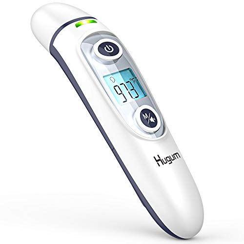 Medical Forehead and Ear Thermometer for Baby, Kids and Adults - Infrared Digital Thermometer with Fever Indicator