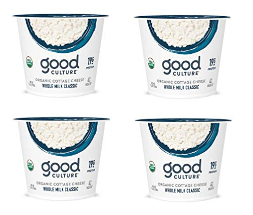 Good Culture, Organic Cottage Cheese, Whole Milk Classic 5.3 oz (4 Pack)