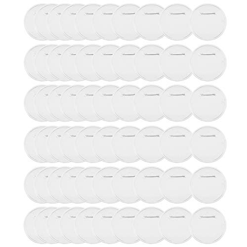 Yesland 60 Sets Acrylic Design Button - 2.36'' - Clear Badges Kit with Pin for Craft Supplies/Activities/DIY Badges