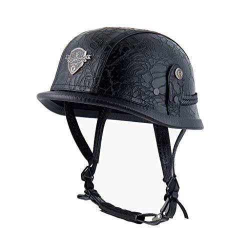N/X Akaslife ABS Plastic Motorcycle Helmet - Motorcross Retro Personality Fashion Helmet for Multi-Sports Cycling Skateboarding Scooter Roller Skate Inline Skating Rollerblading Longboard