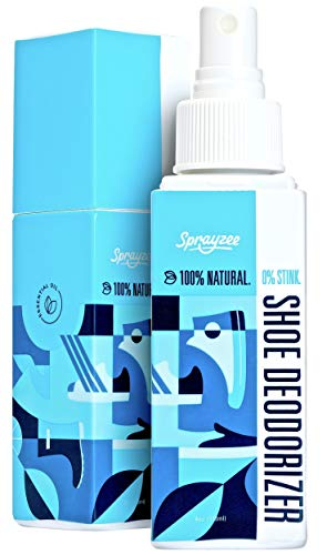 #1 Rated Natural Shoe Deodorizer Spray for Foot Odor & Sport Gear - INSTANT Shoe Odor Eliminator w 12 Essential Oils & Enzymes - Odor Eaters for Shoes, Foot Spray, Gym Bag Deodorizer (Power Mint, 1)
