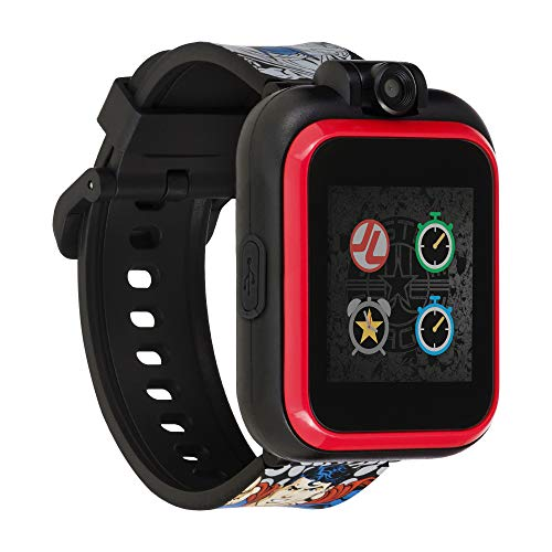 Justice League Official Smartwatch for Kids by PlayZoom - Swivel Camera with Video Record, Educational Games and Activities, Alarm, Calendar, Stopwatch, and Camera Remote