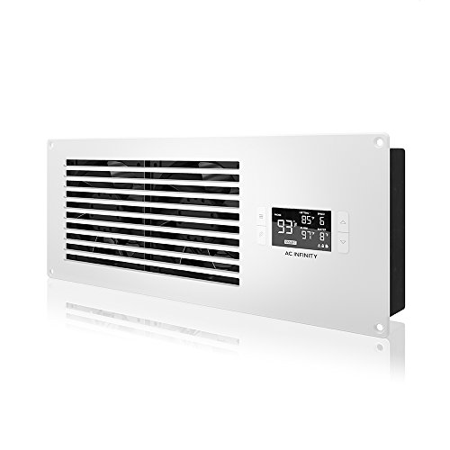 AC Infinity AIRFRAME T7-N White, High-Airflow Cooling Fan System 16', Intake Airflow, for AV Equipment Rooms, Closets, and Enclosures