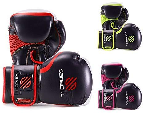 Essential Boxing Gloves Red 8-oz