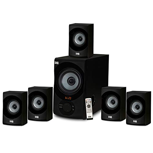 Acoustic Audio AA5172 Home Theater 5.1 Bluetooth Speaker System with USB / SD, Gray