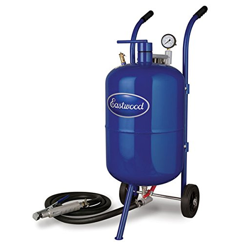 Eastwood 100 Lbs Portable Air Pressure Abrasive Blaster Tank with Blast Hose & Pressure Gauge to Remove Rust and Paint Faster
