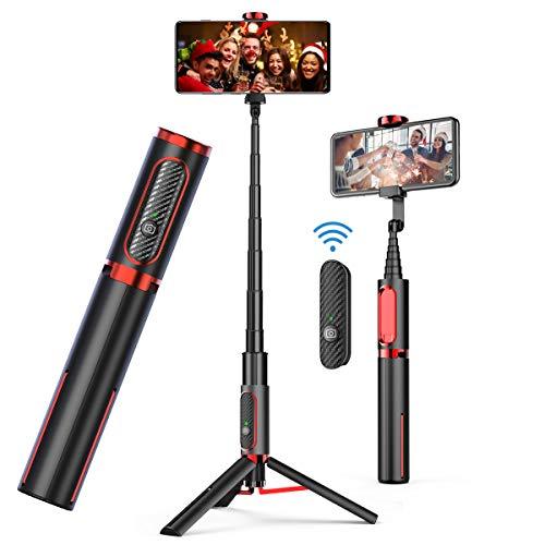 Selfie Stick Tripod, Doosl Bluetooth Selfie Stick - Wireless Selfie Stick Tripod for Apple & Android Devices - Portable & Lightweight Home Travel Use Tripod Selfie Stick