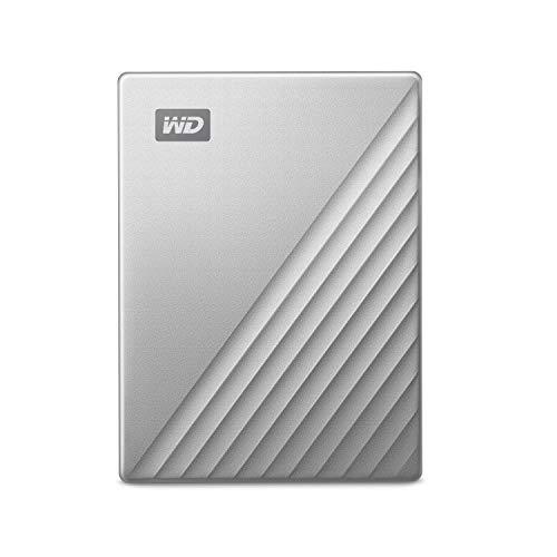 WD5TB MyPassportUltrafor Mac Silver Portable External Hard Drive, USB-C - WDBPMV0050BSL-WESN