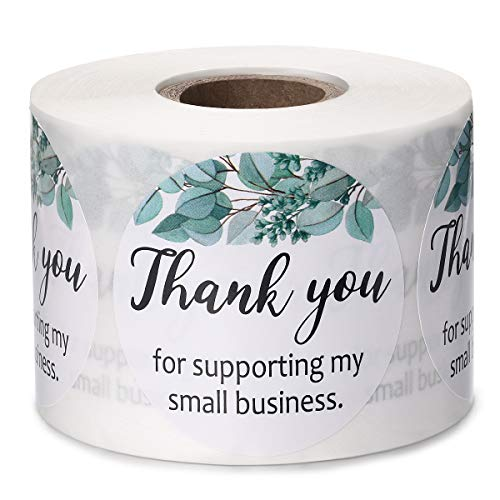 500 2' Thank You Stickers Roll Small Business Label Gift Bag Envelope Shipping Packaging Supplies