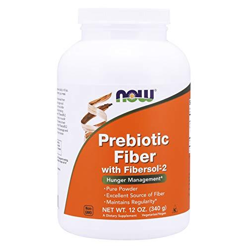 NOW Supplements, Prebiotic Fiber with Fibersol-2, derived from Non-GMO corn, Powder, 12-Ounce