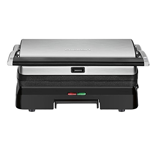 Cuisinart GR-11 Griddler 3-in-1 Grill and Panini Press, Silver