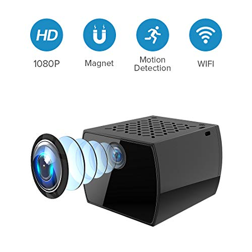 Spy Camera Wireless Hidden Camera WiFi Portable Small Covert Full HD 1080P Home Nanny Cam with Motion Detection and Night Vision Indoor Outdoor Security Surveillance Cam