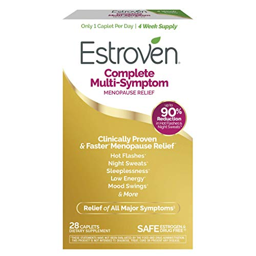 Estroven Complete Menopause Relief | All-In-One Menopause Relief* | Safe and Effective | Reduce Multiple Menopause Symptoms*1 | Reduces Hot Flashes and Night Sweats* | One Per Day | 28 Count
