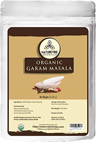 Naturevibe Botanicals Organic Garam Masala, 1 Pound - 100% Pure, Natural & USDA Organic Certified | Adds taste and flavor [Packaging may vary]