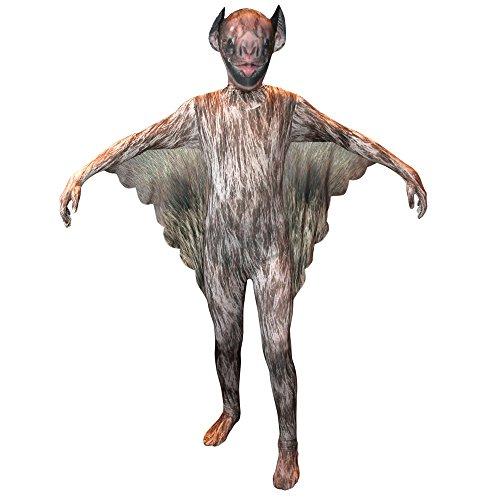 Morphsuits Vampire Bat Kids Animal Planet Costume - Size Large 4'-4'6 (120cm-137cm)