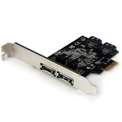 StarTech.com 2 Port PCI Express SATA 6 Gbps eSATA Controller Card - Dual Port PCIe SATA III Card - 2 Int/2 Ext - SATA III 6Gbps (PEXESAT322I)