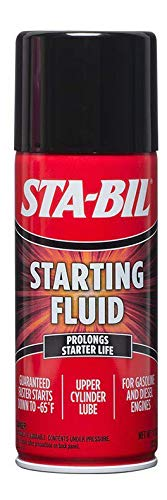 STA-BIL (22004 Starting Fluid - Prolongs Starter Life - Upper Cylinder Lube - for Gasoline and Diesel Engines - Guaranteed Faster Starts Down to -65°F, 11 oz.