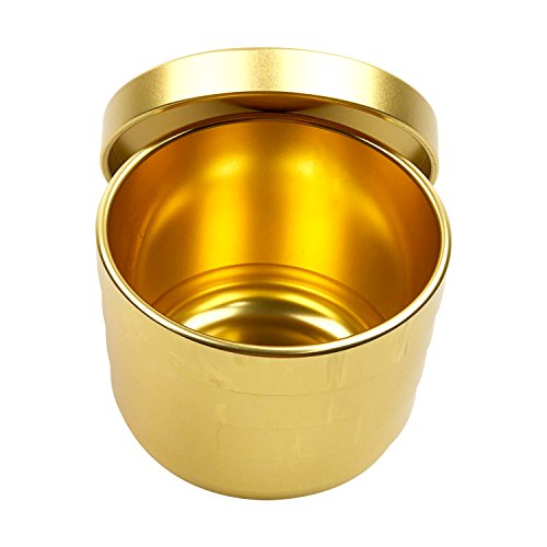 YH Poker Yuanhe Casino Grade Pai Gow Cup Dice Cup with Lid-Gold