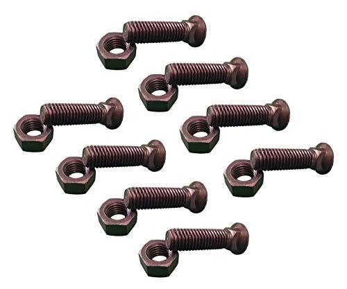 8 - Plow Bolt & Nut for Blades/Cutting Edge, 5/8-11x2 1/4 - Grade 8, Dome Head