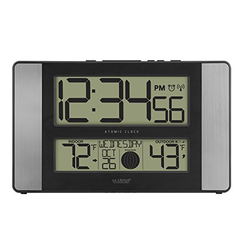 La Crosse Technology 513-1417AL-INT Atomic Clock w Outdoor Temp