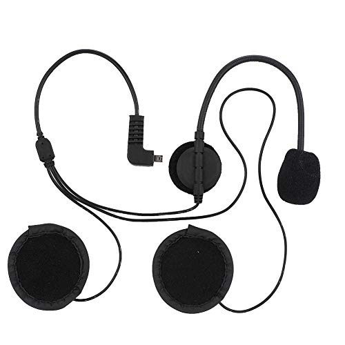 Tangxi Helmet Bluetooth Intercom Headset, Bluetooth Motorcycle Wireless Intercom Helmet Headset with FM Radio + Phone Calling Function