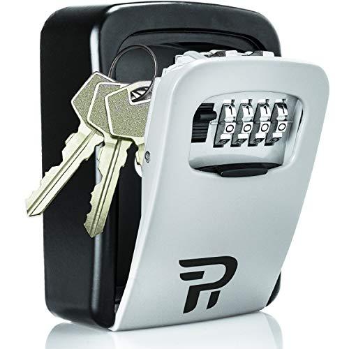 Key Lock Box for Outside - Rudy Run Wall Mount Combination Lockbox for House Keys - Key Hiders to Hide a Key Outside - Waterproof Key Safe Storage Lock Box