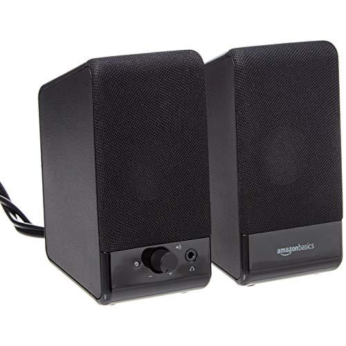 AmazonBasics Computer Speakers for Desktop or Laptop PC | USB-Powered