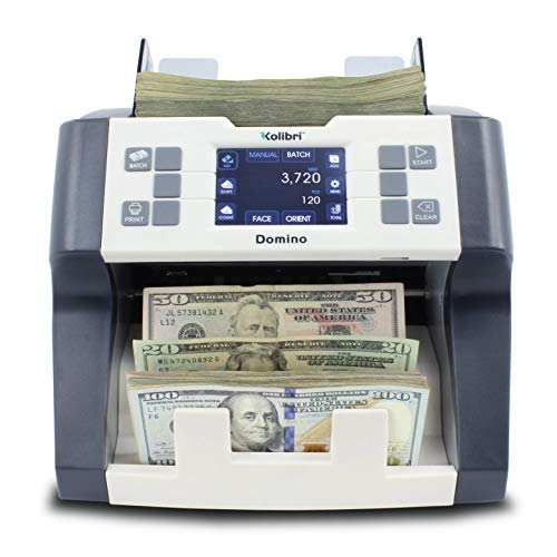 Kolibri Domino Bank Grade Professional Mixed Denomination Money Counting Machine and Bill Reader with Ultraviolet,Magnetic and Infrared Counterfeit Detection