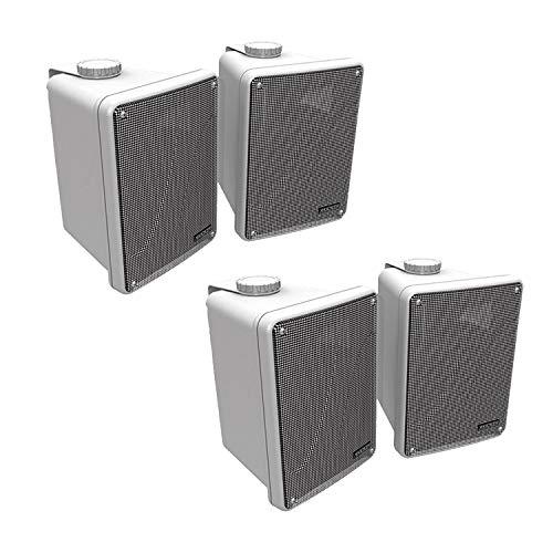 KICKER 4 KB6000 6.5' White Full-Range Indoor/Outdoor/Marine Speakers 11KB6000W