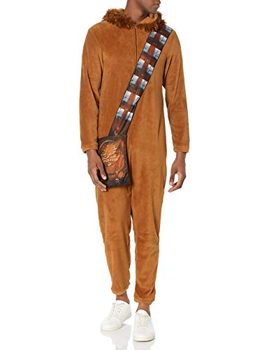 Star Wars Men's One Piece Hooded Pajama, Chewie, S