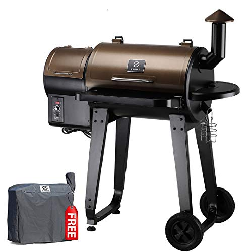 Z GRILLS ZPG-450A 2020 Upgrade Wood Pellet Grill & Smoker 6 in 1 BBQ Grill Auto Temperature Control, 450 sq in, Bronze