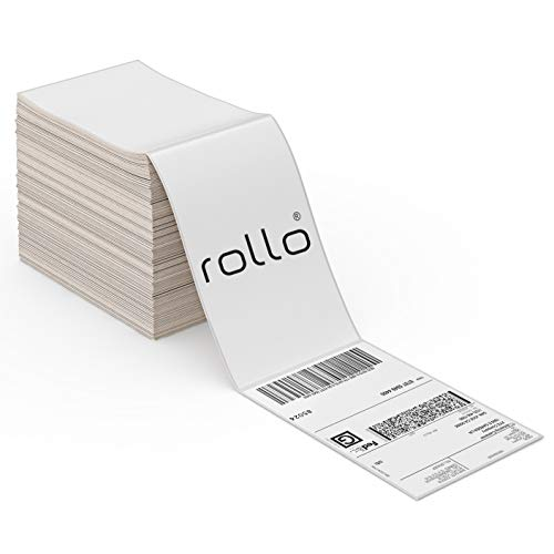 ROLLO Thermal Direct Shipping Label (Pack of 500 4x6 Fan-Fold Labels) - Commercial Grade