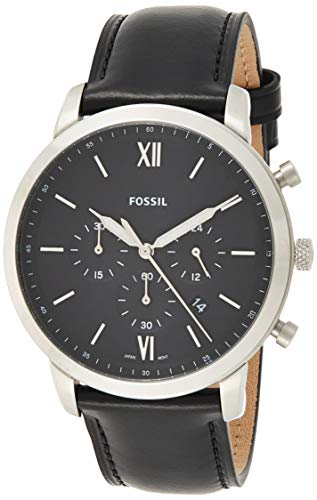 Fossil Men's FS5452 Neutra Chrono Analog Display Analog Quartz Black Watch