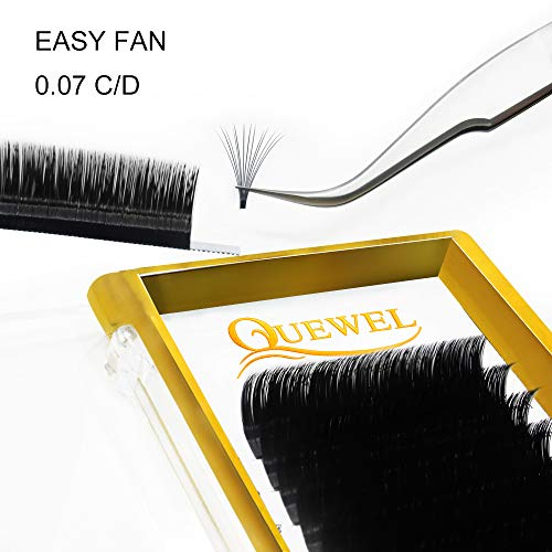 Volume Eyelash Extensions Thickness 0.07 D Curl 8-15mm Mix Premade Fans 2D 3D 4D 5D 6D 20D Easy Fan Lash Self Fanning|Optinal Thickness 0.05/0.07/0.10/0.12 C/D Curl Single 8-18mm Mix 8-15mm|
