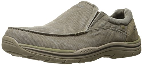 Skechers Men's Expected Avillo Relaxed-Fit Slip-On Loafer,Khaki,9 D US