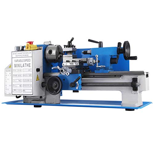 BestEquip Mini Metal Lathe 550W 7 x 12 Inch Metal Lathe 2500 RPM Infinitely Variable Spindle Speed Mini Lathe for Various Types of r Mini Precision Parts Processing