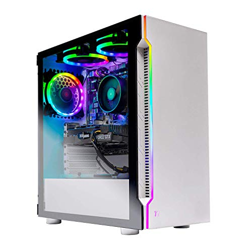 Skytech Archangel Gaming Computer PC Desktop – Ryzen 5 3600 3.6GHz, RTX 2070 8G, 500GB SSD, 16GB DDR4 3000MHz, RGB Fans, Windows 10 Home 64-bit, 802.11AC Wi-Fi