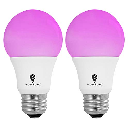 2 Pack BlueX 75W LED Grow Light Bulb A19 Bulb - Full Spectrum Grow Lamp - Grow Healthier & Yield Better Harvests for DIY Indoor Plants, Flowers, Greenhouse, Indore Garden, Hydroponic