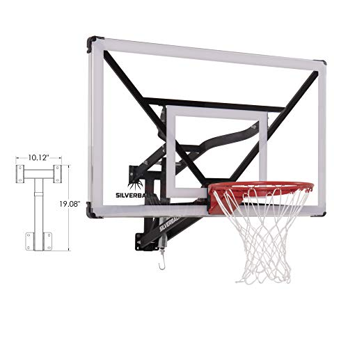 Silverback NXT 54' Wall Mounted Adjustable-Height Basketball Hoop with QuickPlay Design