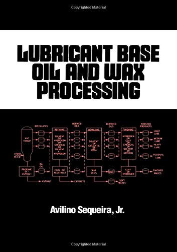 Lubricant Base Oil and Wax Processing (Chemical Industries)