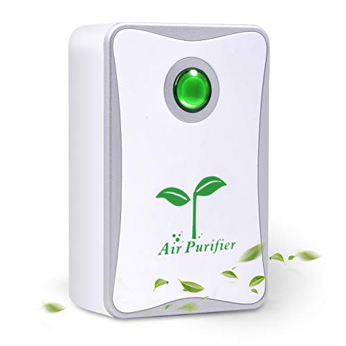 Belita Amy Air Purifier, Plug in Air Purifier for Home Mini Portable Silent Air Purifier Travel-Size Air Cleaner for House Bedroom Bathroom Kitchen Remove Pet Smell Cigarette Smoke Odor (Silver)