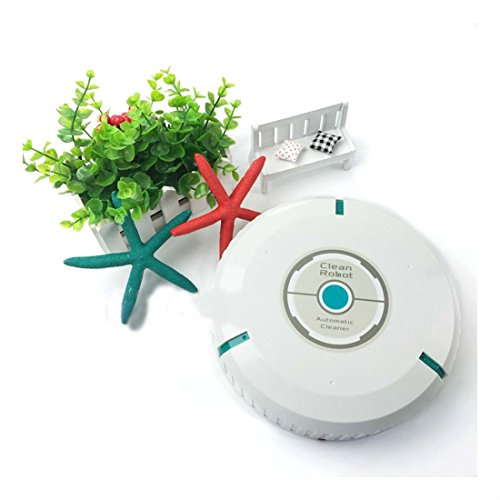 White Smart Auto Cleaner Household Robotic Microfiber Mop Dust Robot Cleaning