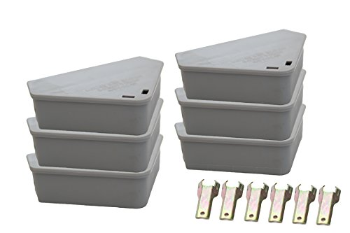 Venditor 6 Pack Mouse Bait Station with 6 Keys Child - Pet Safe Rodent Bait Station with 2 Bonus Ant Poison Stations - No Bait