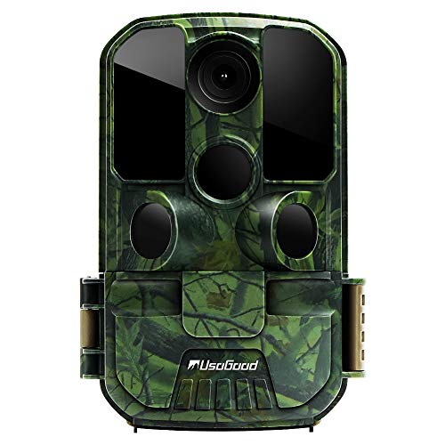 [New Version] Usogood Trail Game Camera 20MP 1080P No Glow Night Vision Hunting Camera Motion Activated IP66 Waterproof 2.4' LCD for Outdoor Wildlife, Garden, Animal Scouting and Security Surveillance